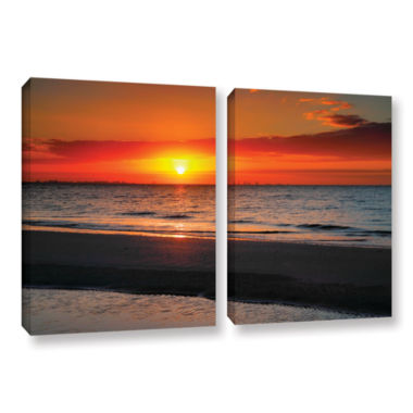 Brushstone Sunrise Over Sanibel 2-pc. Gallery Wrapped Canvas Wall Art