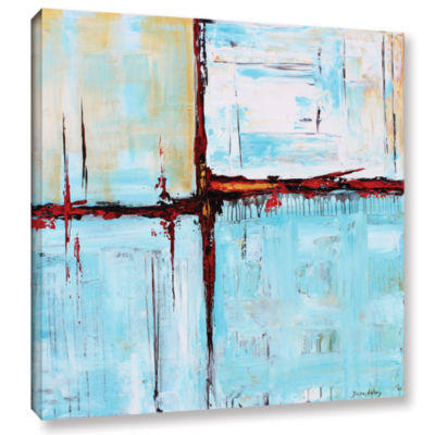 Brushstone Winterpane Gallery Wrapped Canvas WallArt