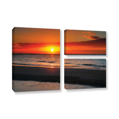 Sunrise Over Sanibel 3-pc. Flag Gallery Wrapped Canvas Wall Art
