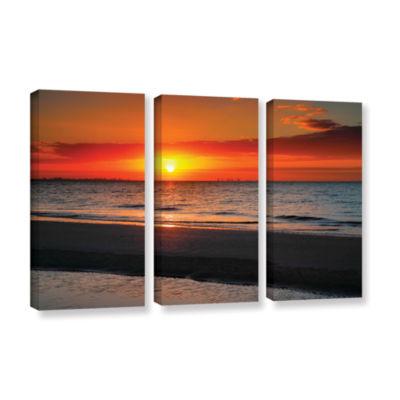 Brushstone Sunrise Over Sanibel 3-pc. Gallery Wrapped Canvas Wall Art