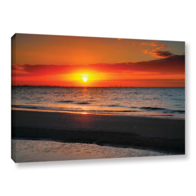 Brushstone Sunrise Over Sanibel Gallery Wrapped Canvas Wall Art