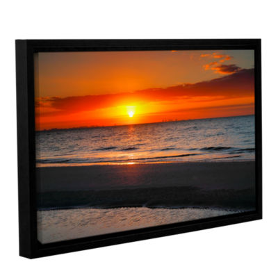 Brushstone Sunrise Over Sanibel Gallery Wrapped Floater-Framed Canvas Wall Art