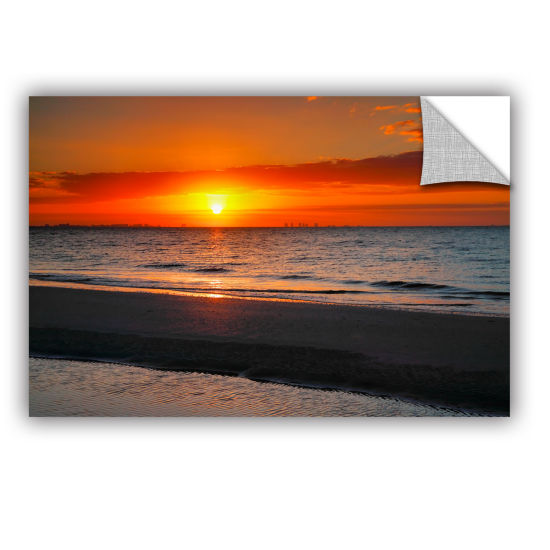 Brushstone Sunrise Over Sanibel Removable Wall Decal