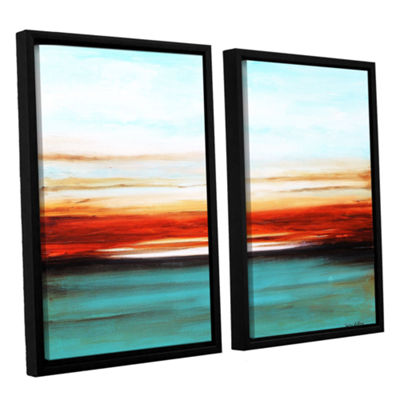 Brushstone Sunset 2-pc. Floater Framed Canvas WallArt