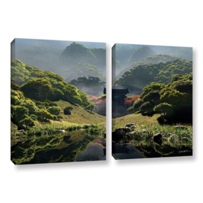 Brushstone Temple of Perpetual Autumn 2-pc. Floater Framed Canvas Wall Art