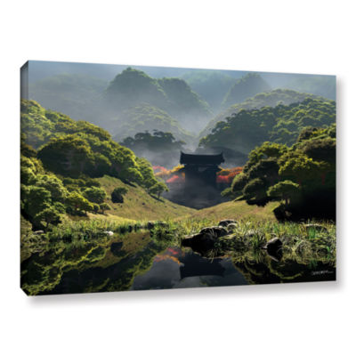 Brushstone Temple of Perpetual Autumn Gallery Wrapped Canvas Wall Art