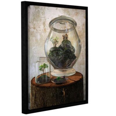 Brushstone Terrarium Gallery Wrapped Floater-Framed Canvas Wall Art