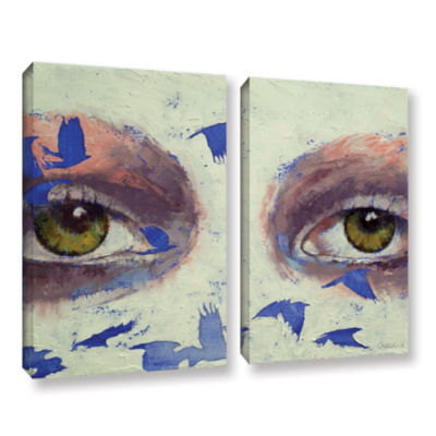 Brushstone The Crow is My Only Friend 2-pc. Gallery Wrapped Canvas Wall Art