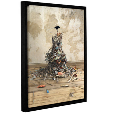 Brushstone Networth Gallery Wrapped Floater-FramedCanvas Wall Art