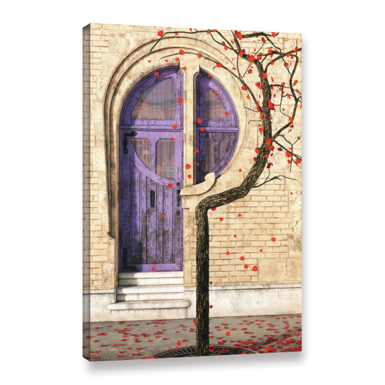 Brushstone Nouveau Gallery Wrapped Canvas Wall Art