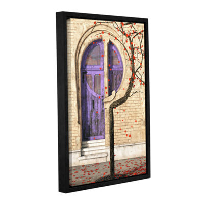 Brushstone Nouveau Gallery Wrapped Floater-FramedCanvas Wall Art