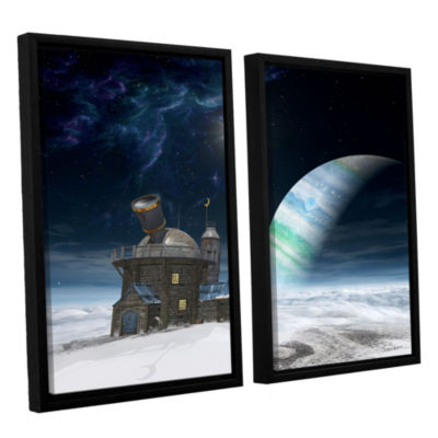 Brushstone Observatory 2-pc. Floater Framed CanvasWall Art
