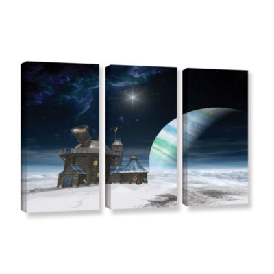 Brushstone Observatory 3-pc. Gallery Wrapped Canvas Wall Art