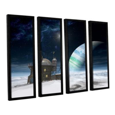 Brushstone Observatory 4-pc. Floater Framed CanvasWall Art