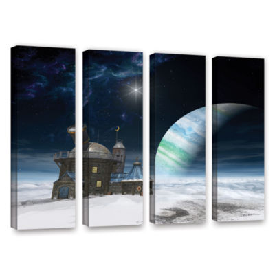 Brushstone Observatory 4-pc. Gallery Wrapped Canvas Wall Art