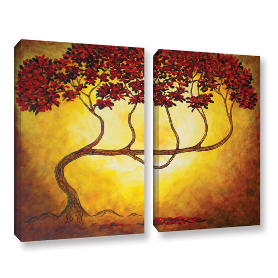 Brushstone Ethereal Tree I 2-pc. Gallery Wrapped Canvas Wall Art