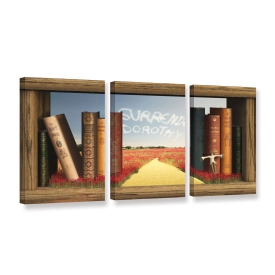 Brushstone The Yellow Brick Road 3-pc. Gallery Wrapped Canvas Wall Art