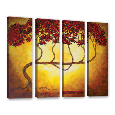 Brushstone Ethereal Tree I 4-pc. Gallery Wrapped Canvas Wall Art