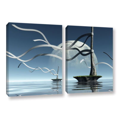 Brushstone Ribbons 2-pc. Floater Framed Canvas Wall Art