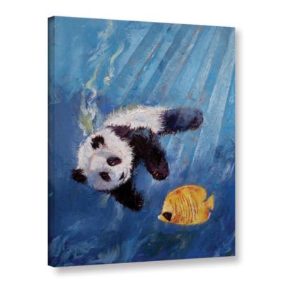 Brushstone Panda Diver Gallery Wrapped Canvas WallArt