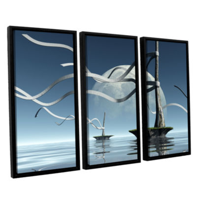 Brushstone Ribbons 3-pc. Floater Framed Canvas Wall Art