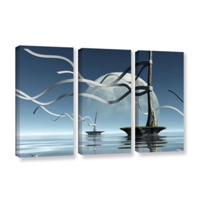 Brushstone Ribbons 3-pc. Gallery Wrapped Canvas Wall Art