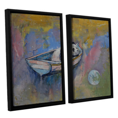 Brushstone Panda Moon 2-pc. Floater Framed CanvasWall Art
