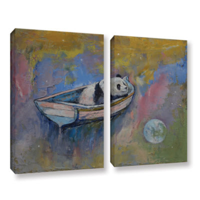 Brushstone Panda Moon 2-pc. Gallery Wrapped CanvasWall Art