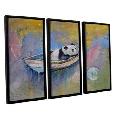 Brushstone Panda Moon 3-pc. Floater Framed CanvasWall Art