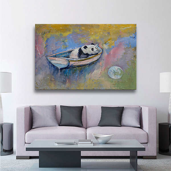 Brushstone Panda Moon Gallery Wrapped Canvas WallArt