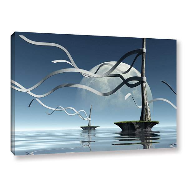Brushstone Ribbons Gallery Wrapped Canvas Wall Art