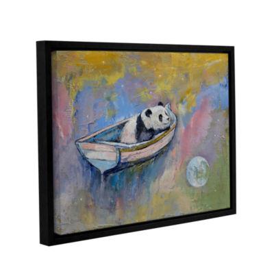 Brushstone Panda Moon Gallery Wrapped Floater-Framed Canvas Wall Art