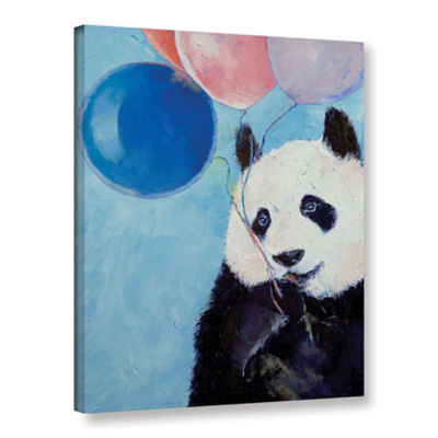 Brushstone Panda Party Gallery Wrapped Canvas WallArt