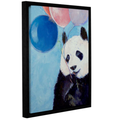 Brushstone Panda Party Gallery Wrapped Floater-Framed Canvas Wall Art