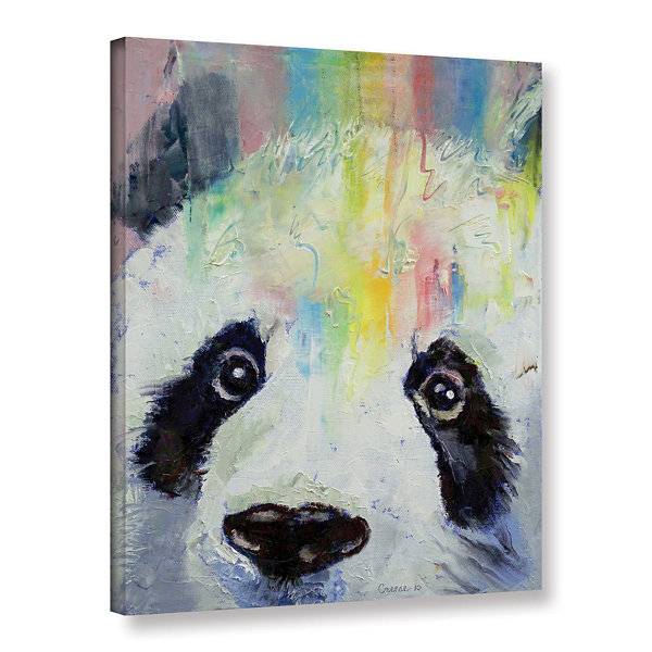 Brushstone Panda Rainbow Gallery Wrapped Canvas Wall Art