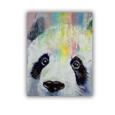 Brushstone Panda Rainbow Removable Wall Decal