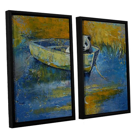 Brushstone Panda Sailor 2-pc. Floater Framed Canvas Wall Art