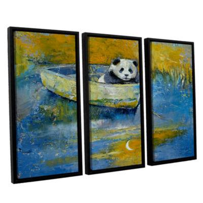 Brushstone Panda Sailor 3-pc. Floater Framed Canvas Wall Art