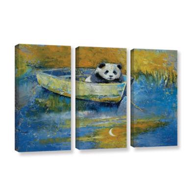 Brushstone Panda Sailor 3-pc. Gallery Wrapped Canvas Wall Art