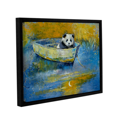 Brushstone Panda Sailor Gallery Wrapped Floater-Framed Canvas Wall Art