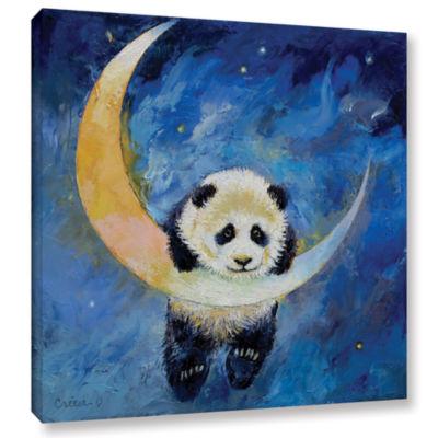 Brushstone Panda Stars Gallery Wrapped Canvas WallArt