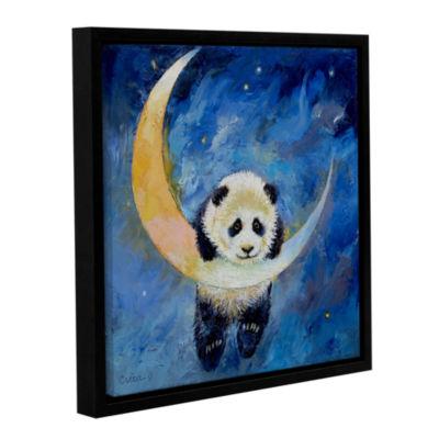 Brushstone Panda Stars Gallery Wrapped Floater-Framed Canvas Wall Art