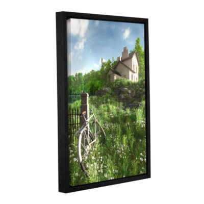 Brushstone House on the Hill Gallery Wrapped Floater-Framed Canvas Wall Art