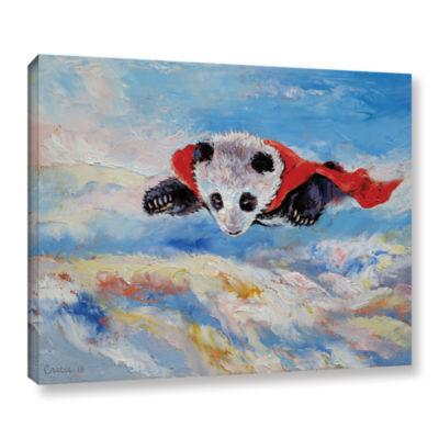 Brushstone Panda Superhero Gallery Wrapped CanvasWall Art
