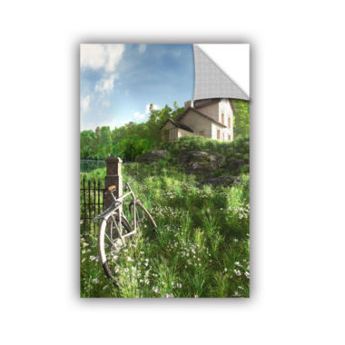 Brushstone House on the Hill Removable Wall Decal