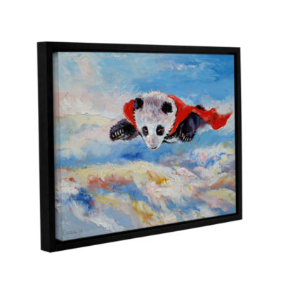 Brushstone Panda Superhero Gallery Wrapped Floater-Framed Canvas Wall Art