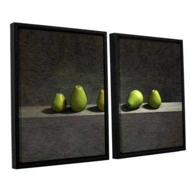 Brushstone Five Pears 2-pc. Floater Framed CanvasWall Art