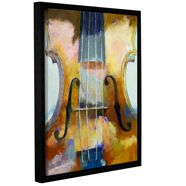 Brushstone Violin Gallery Wrapped Floater-Framed Canvas Wall Art