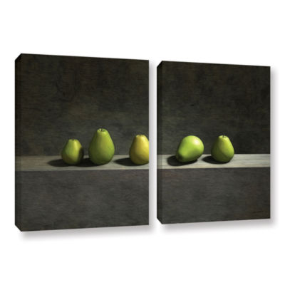 Brushstone Five Pears 2-pc. Gallery Wrapped CanvasWall Art