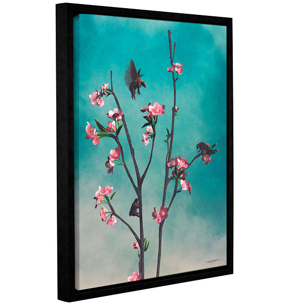 Brushstone Hummingbirds Gallery Wrapped Floater-Framed Canvas Wall Art